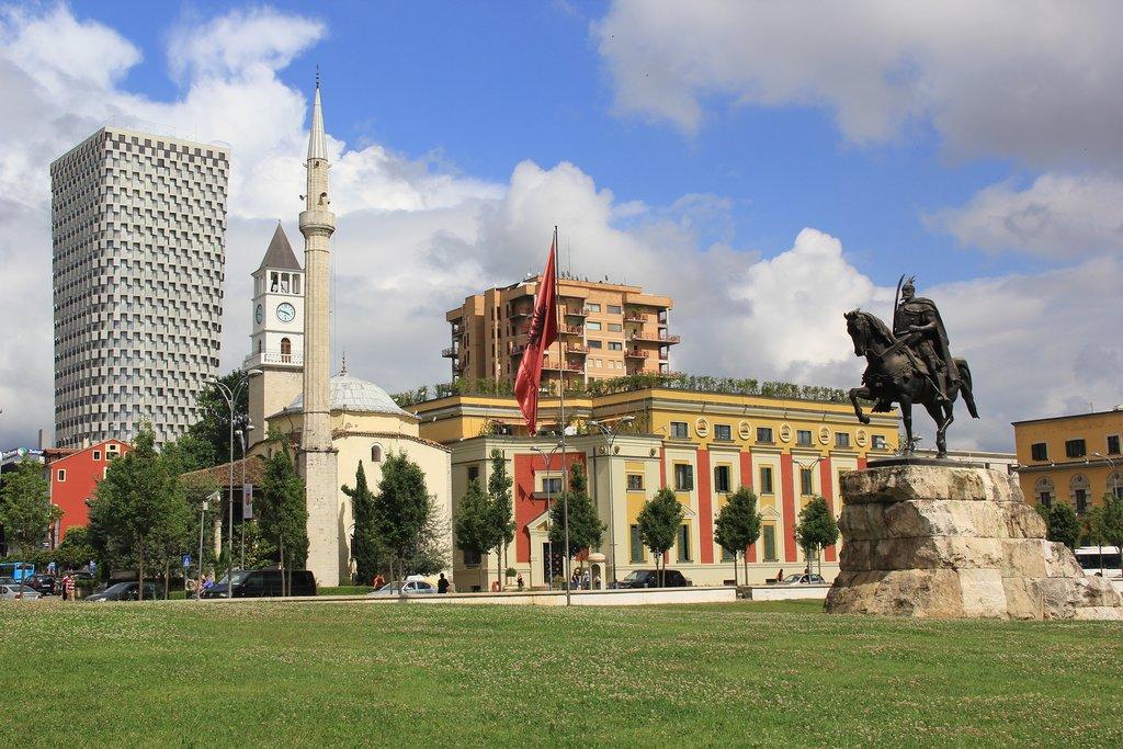 Tirana's Skanderbeg Square