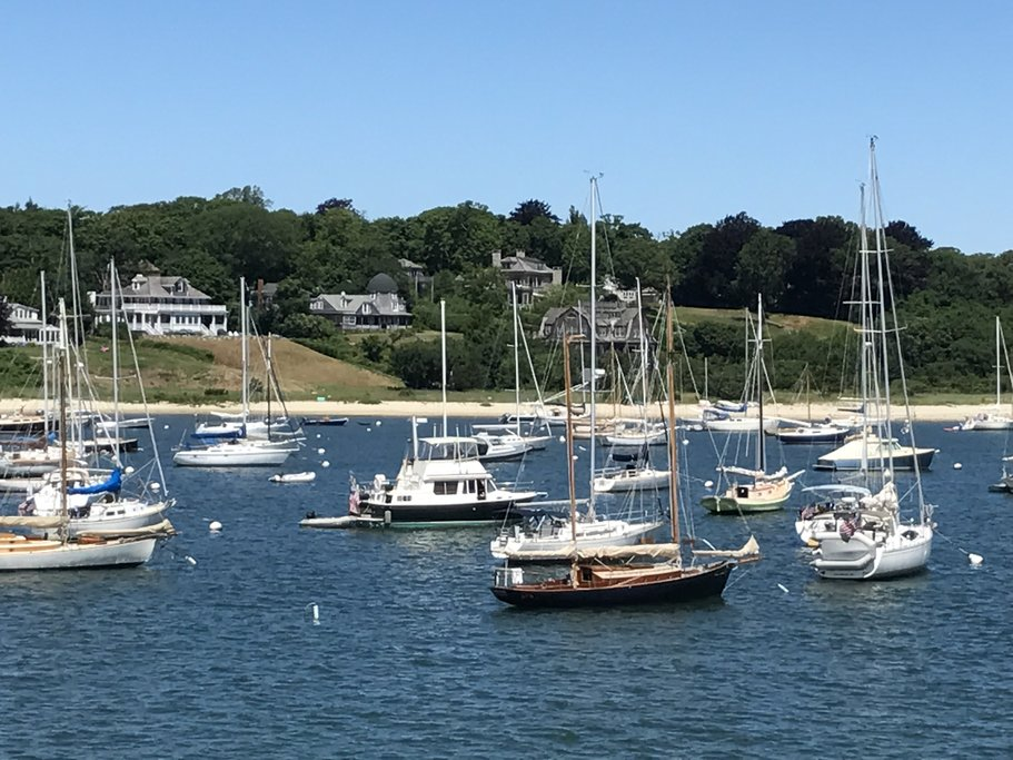 Looking back over Woods Hole from the Ferry