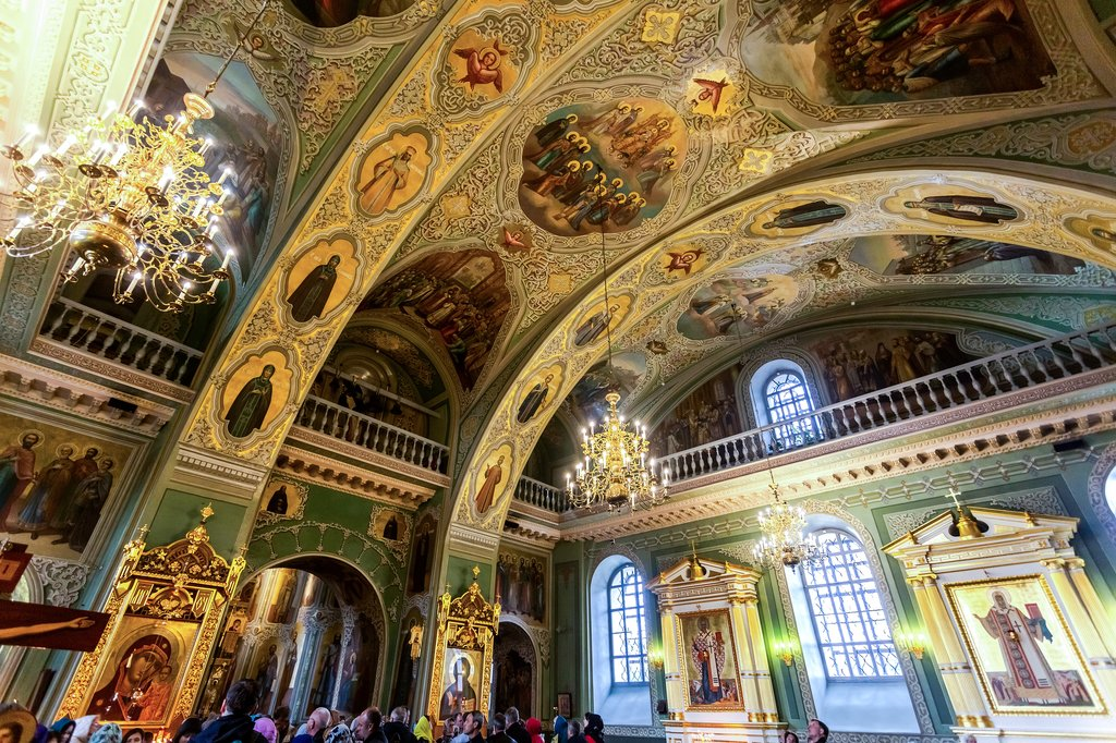 Interior of the Annunciation Cathedral of the Kazan Kremlin
