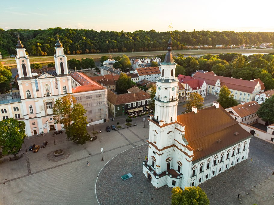 An aerial view of Kaunas