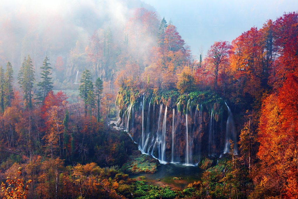 Plitvice Lakes National Park in all its fall glory