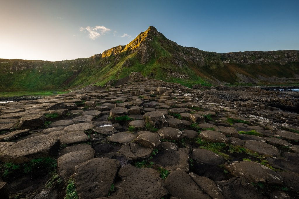 Landscape around Giant's Causeway, a UNESCO World Heritage Site