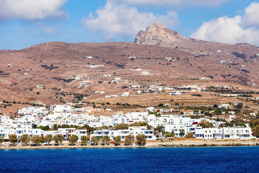 View of the Tinos port