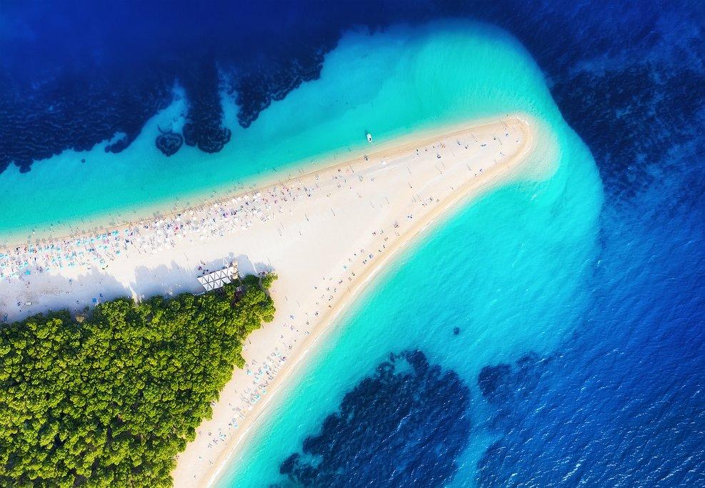 Croatia - Brač's iconic Zlatni Rat beach