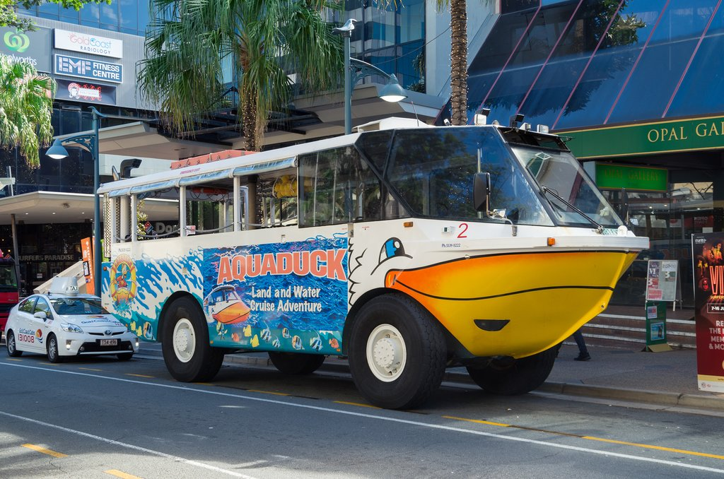 Go on an Aquaduck tour of Gold Coast