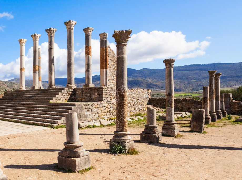 Roman Ruins of Volubilis, outside Meknes, Morocco