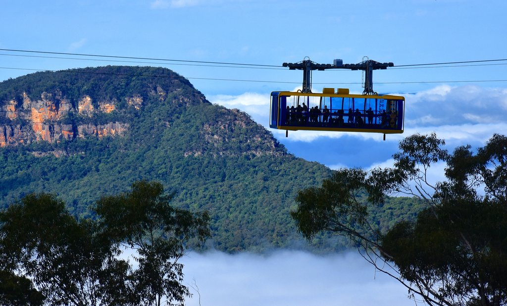 Australia - The Katoomba Scenic Skyway in the Blue Mountains National Park