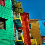 Colorful buildings on Caminito Street in La Boca, birthplace of tango