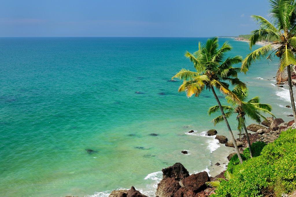 Blue-green ocean views from Varkala