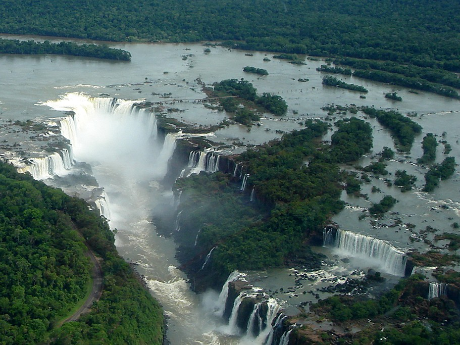 Iguazú Falls, the largest falls in the world