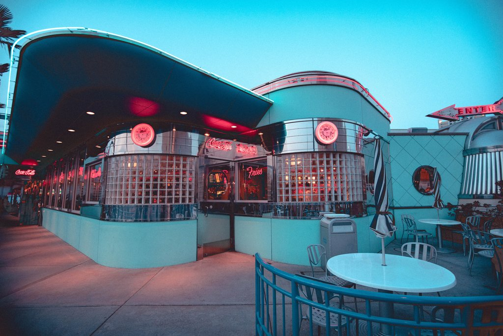 A Diner at Universal Studios