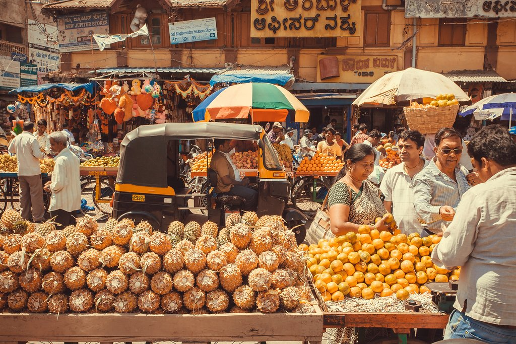 Pick up some pineapples and oranges on the streets of Mysore