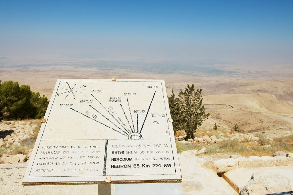 Directions from Mount Nebo