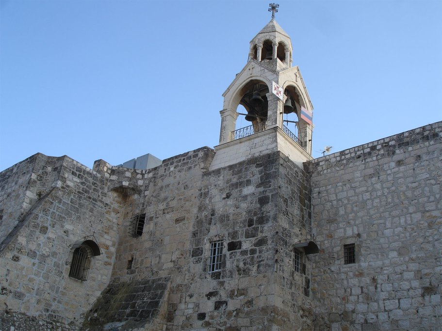 Church of Nativity in Bethlehem, built in the 4th century and later restored in the 6th century