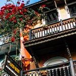 Flower-draped balconies in Bandipur