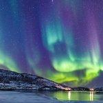 Northern Lights on the coast near Tromsø