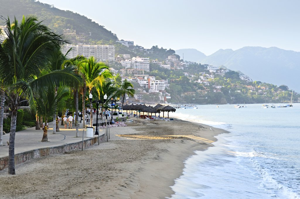 A stretch of coastline in Puerto Vallarta, Mexico
