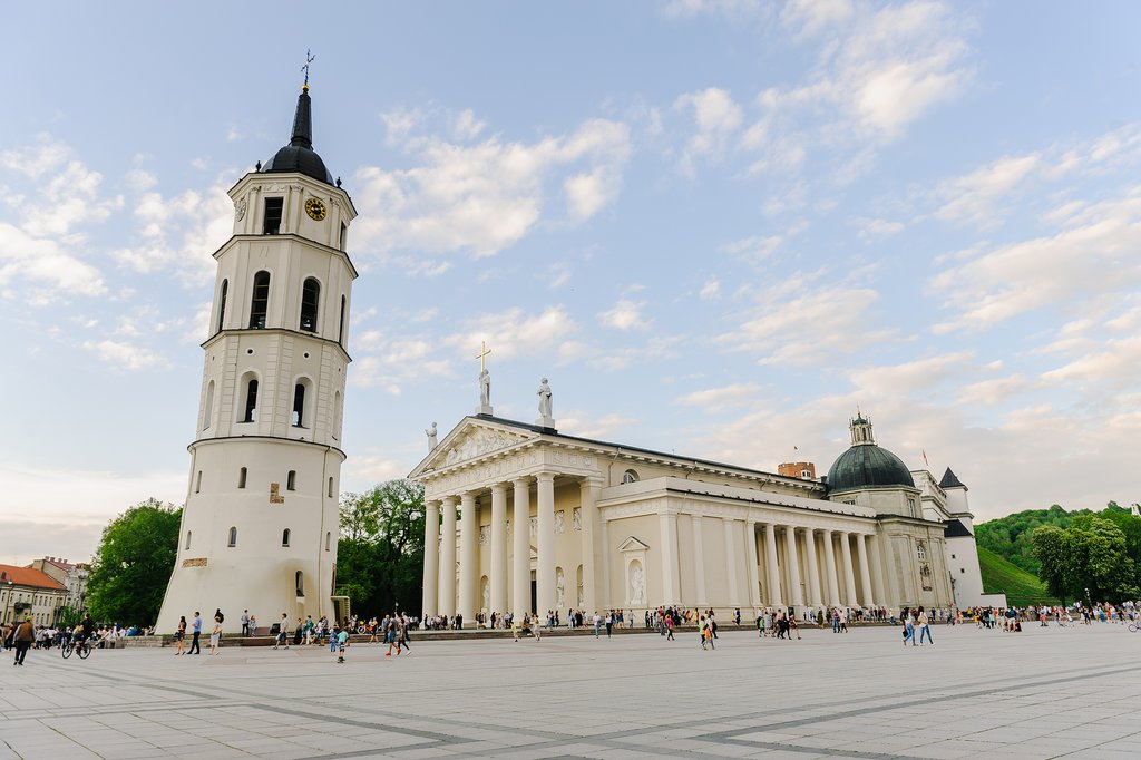 Vilnius Cathedral, on Cathedral Square