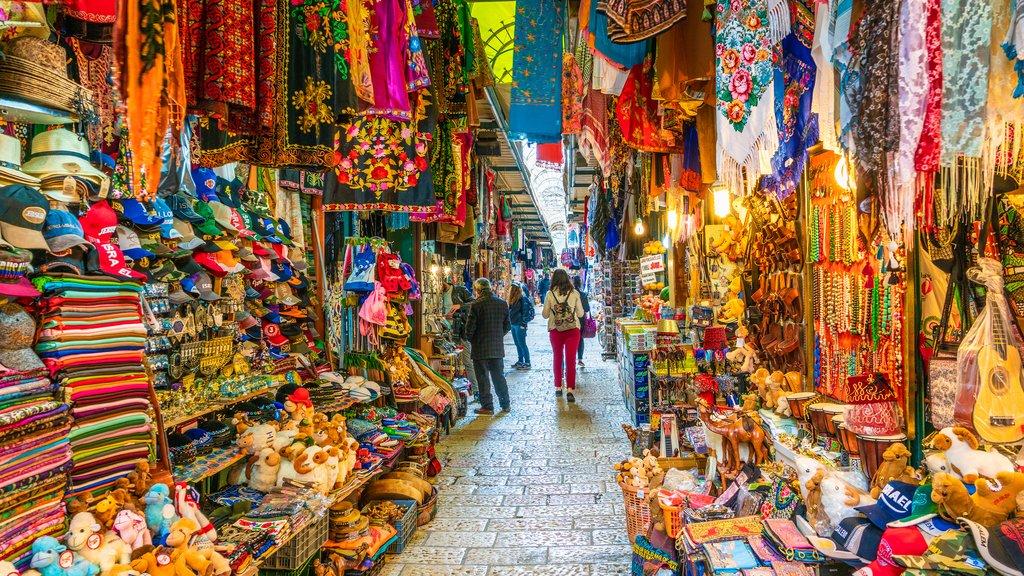 Souvenir market in the Old City of Jerusalem