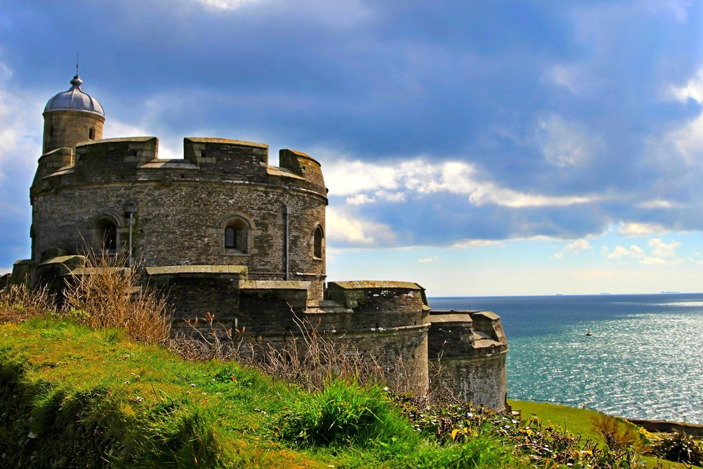 Falmouth's beautiful 16th-century Pendennis Castle.