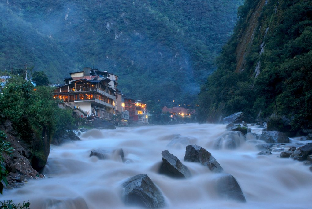 The thermal waters of Aguas Calientes are a well known cure for sore hikers who have recently completed the Inca Trail