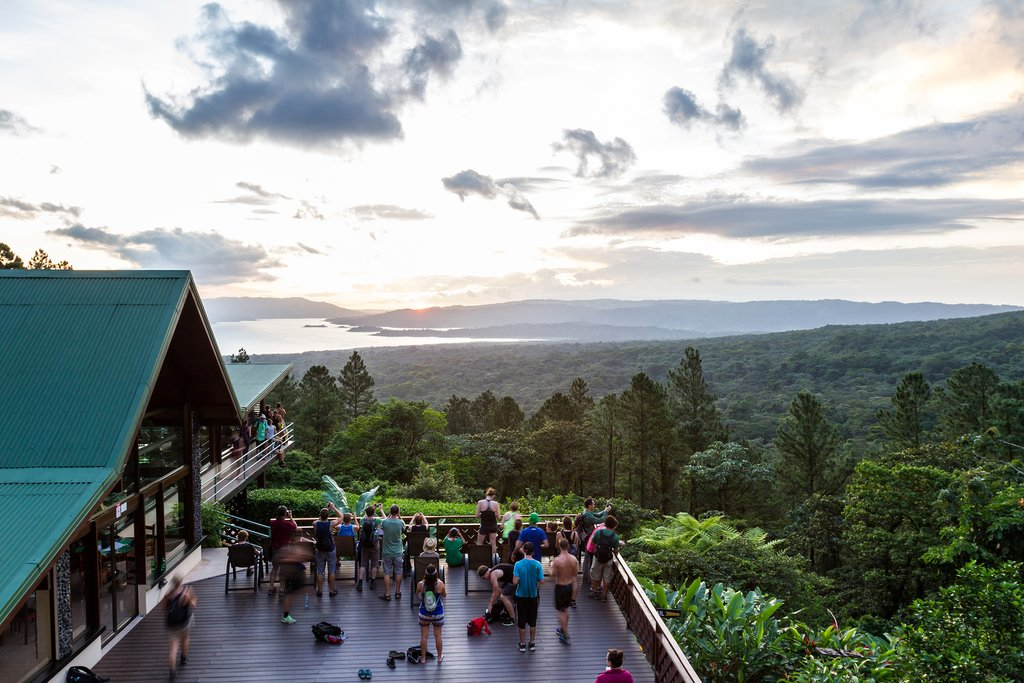 Enjoy some birding and the view over Lake Arenal at Arenal Observatory Lodge