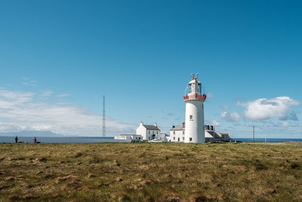 The Loop Head lighthouse at the entrance to the Shannon Estuary