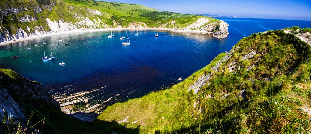 Lulworth's circular bay.