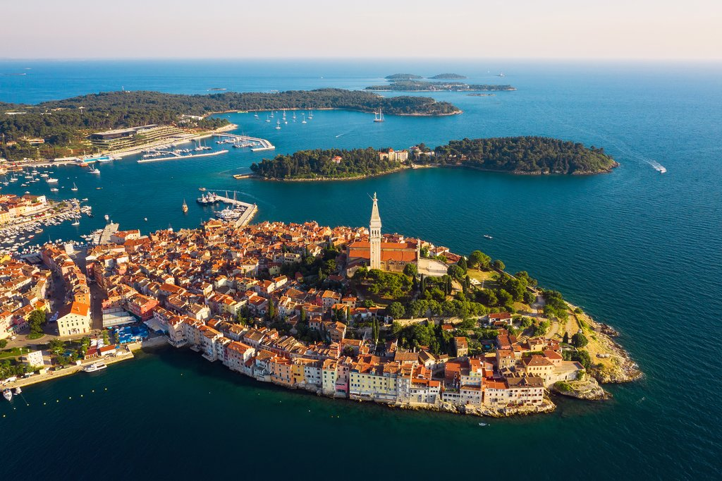 Rovinj and surrounding archipelago