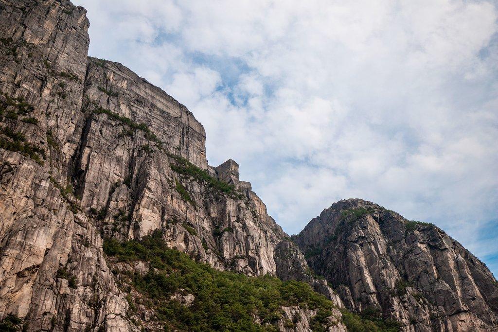 Preikestolen (The Pulpit Rock) from below