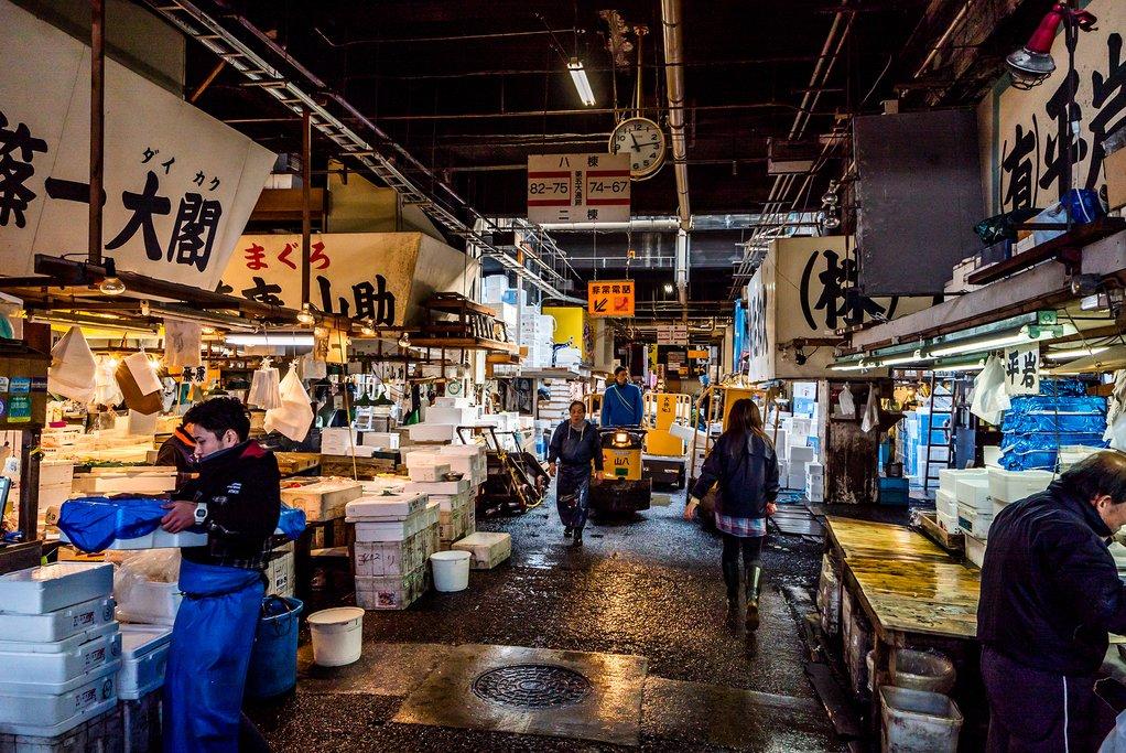 Tsukiji Market, Tokyo.
