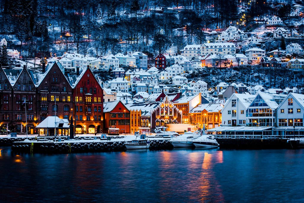 Bergen is magical after a snowfall
