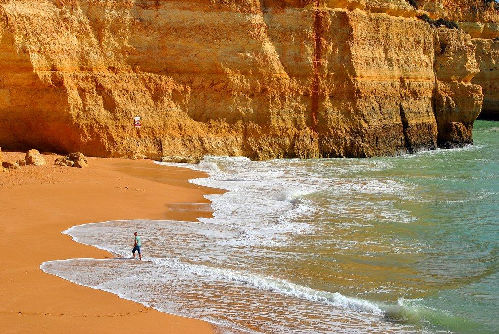 Beach on the Algarve coast
