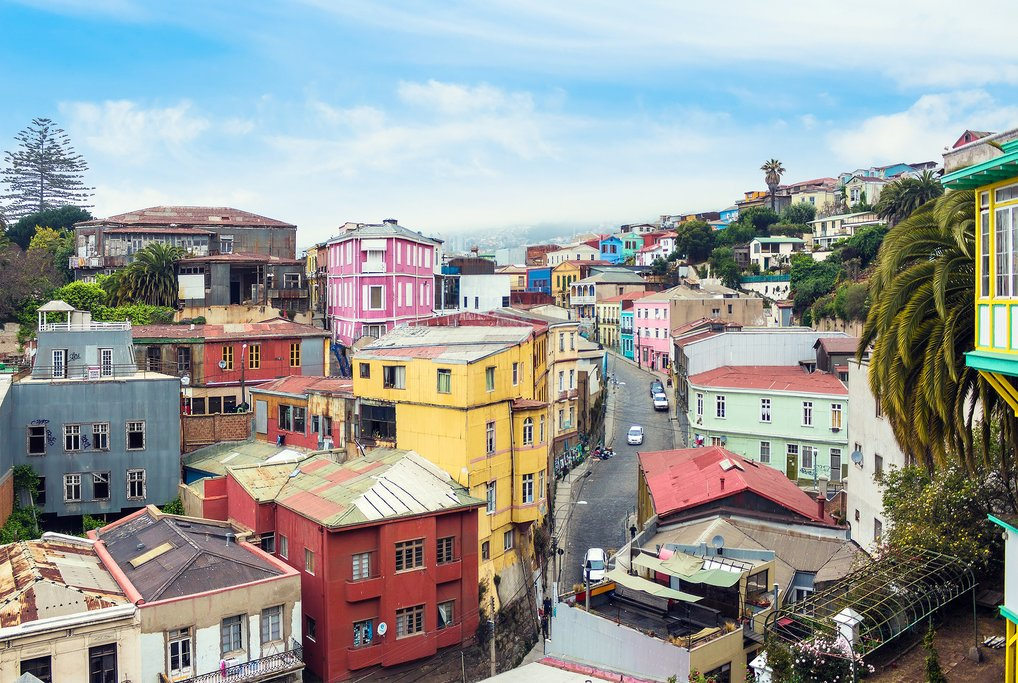 The colorful streets of Valparaíso