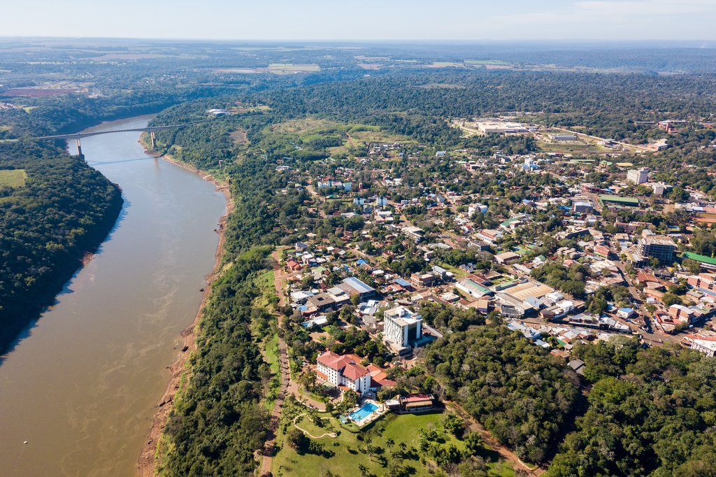 Puerto Iguazu from above