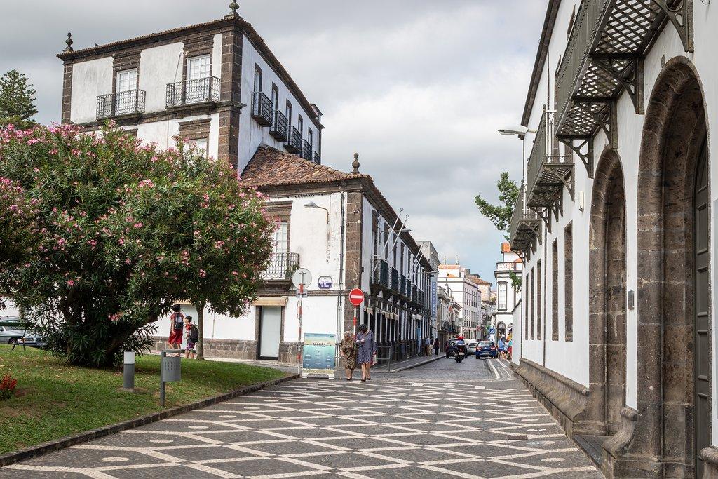 The charming streets of Ponta Delgada
