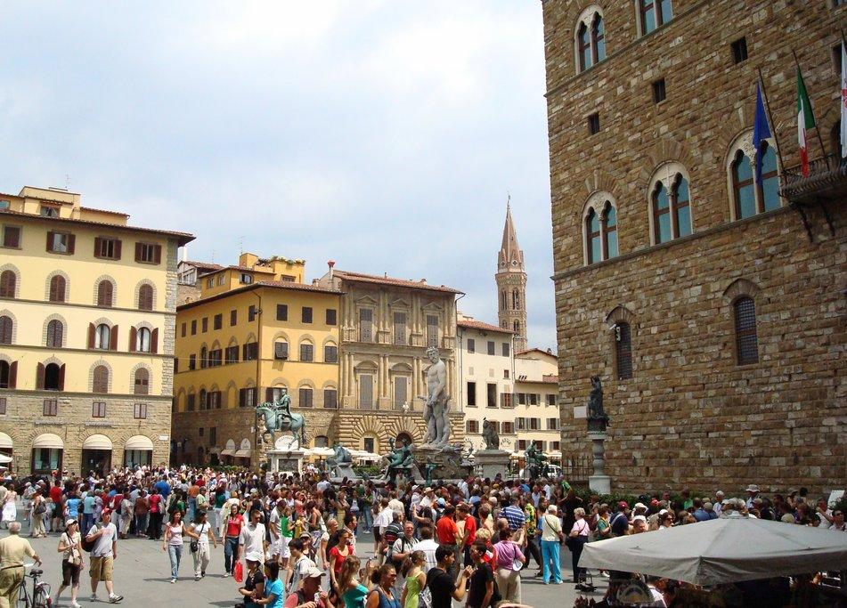 Piazza della Signoria, a UNESCO site