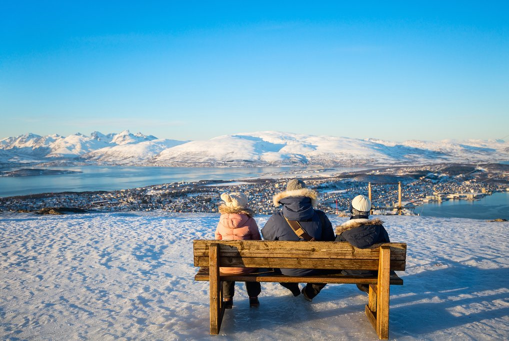 Enjoy one last view over Tromsø and the Arctic coast.