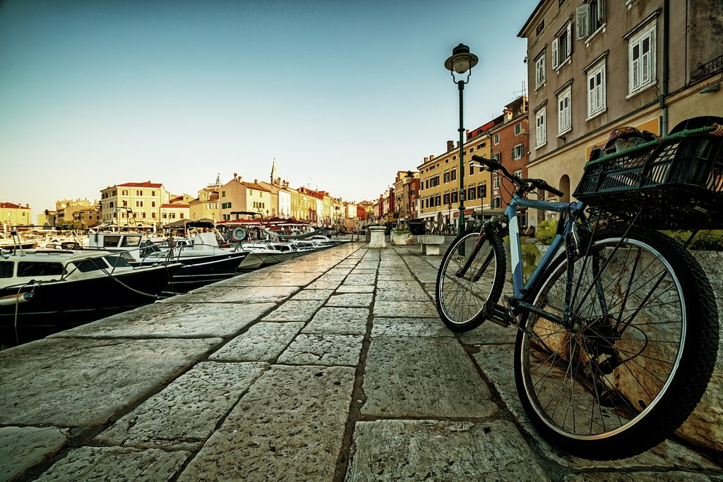 Bike through the cobble-stone streets of Rovinj