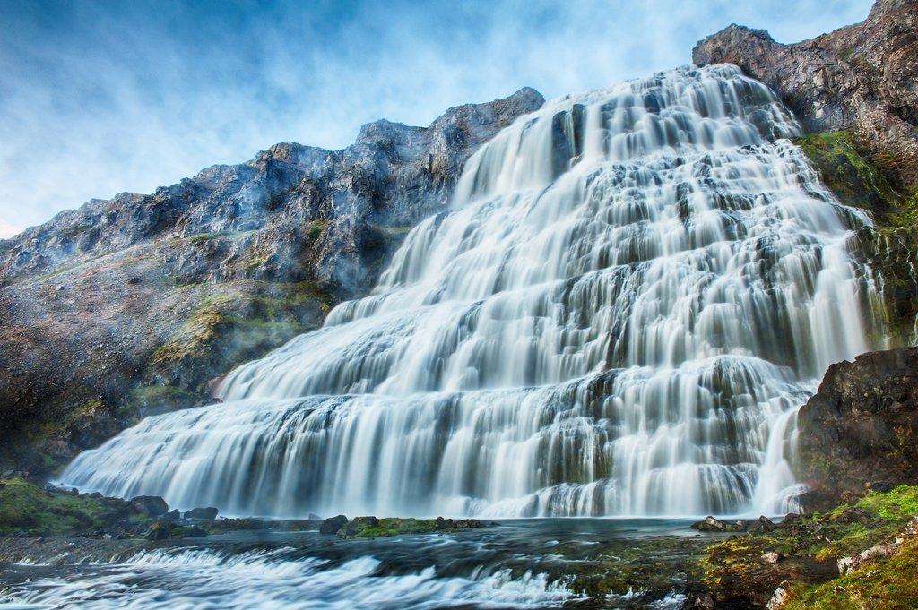 Majestic Dynjandi waterfall is a great picnic spot