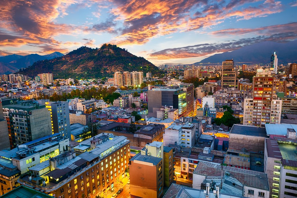 Santiago de Chile at night