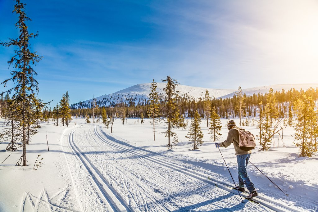 Cross country skiing in Norway's Arctic wilderness