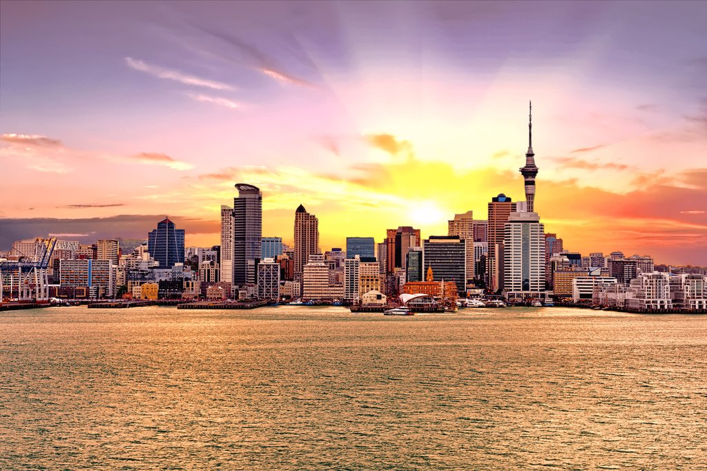 Take in the Auckland sunset aboard a dinner cruise