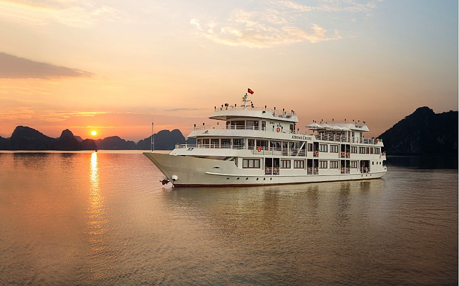 Take in the incredible sunset views from the ship