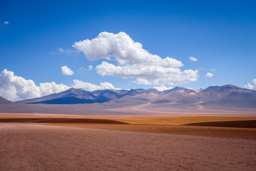 The journey south from Uyuni to the reserve is one of vast lunar landscapes