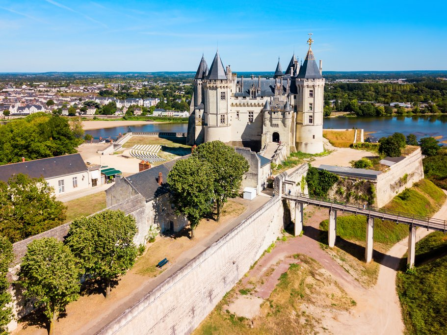 Saumur Castle in the city of Saumur