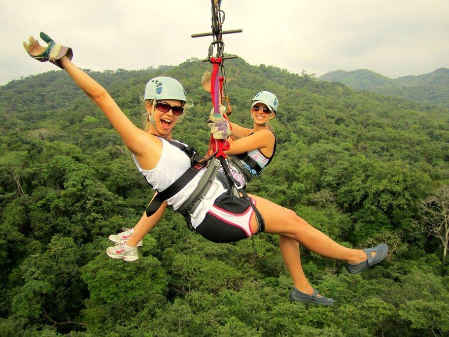 Go ziplining through the cloud forest canopy