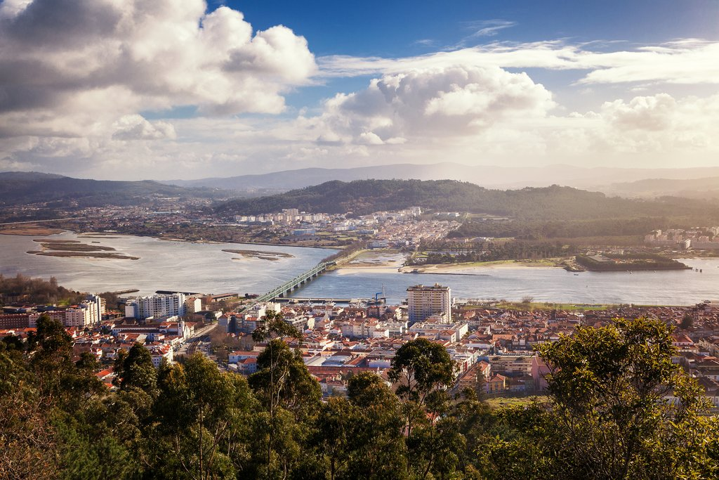 The romantic cityscape of Viana do Castelo
