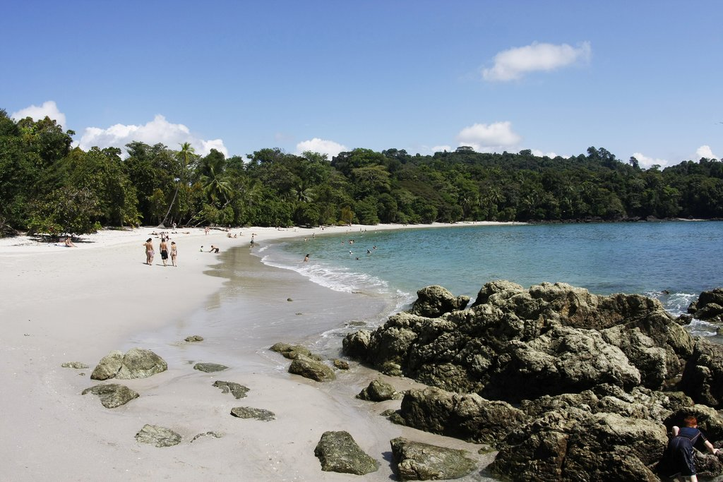 A beach in Manuel Antonio
