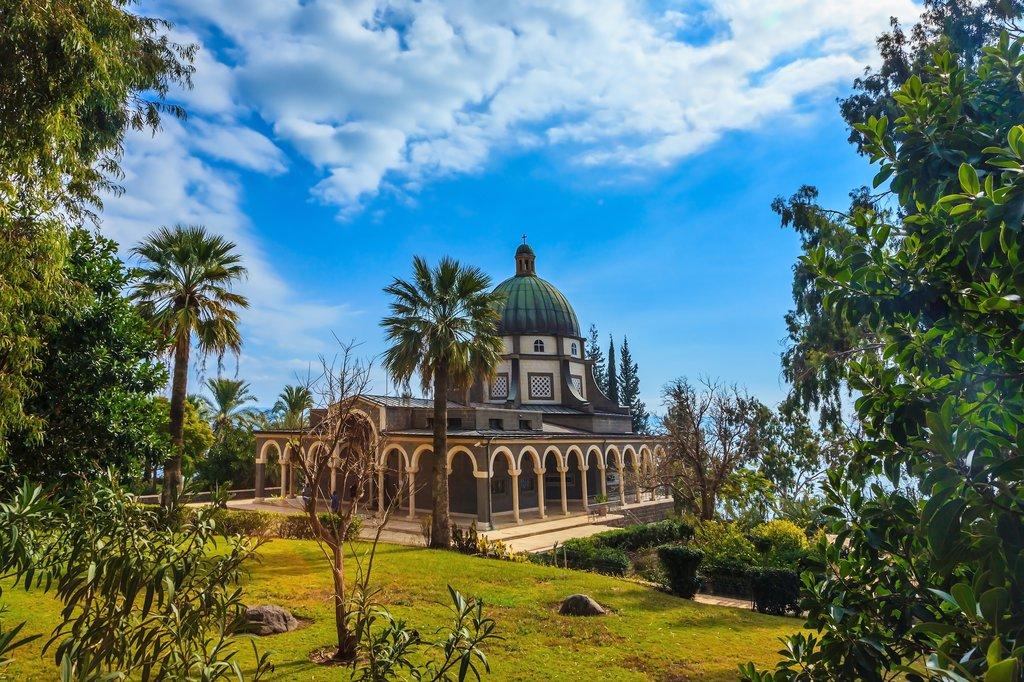Israel - Mount of Beatitudes overlooking the Sea of Galilee